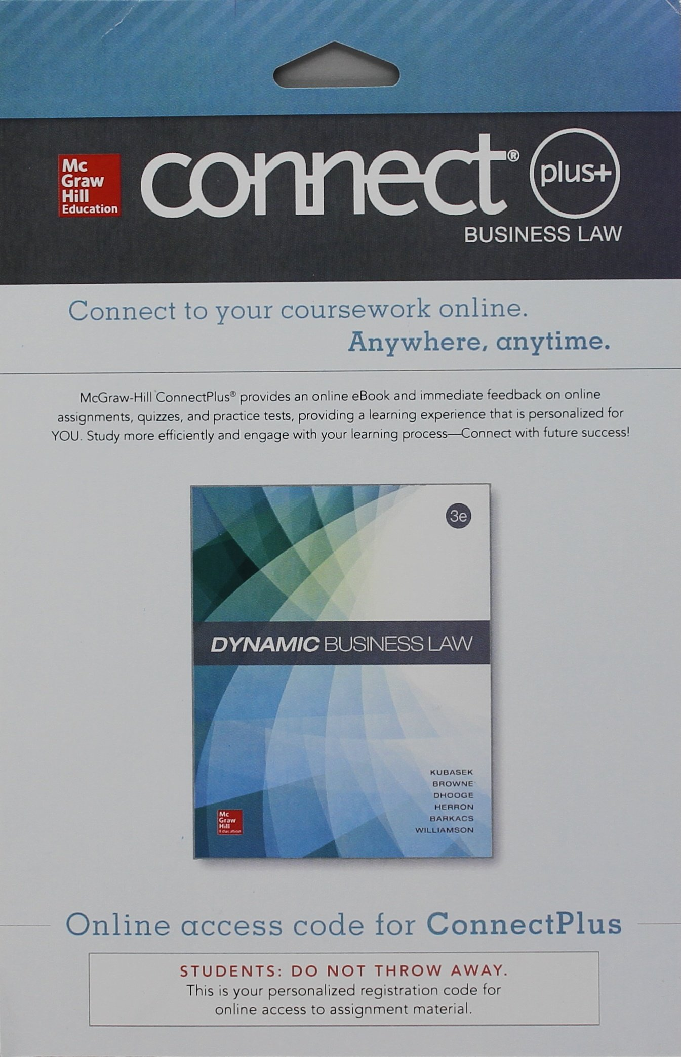 Dynamic business law connectplus access browne dhooge herron dynamic business law connectplus access browne dhooge herron barkacs williamson kubasek 9780077618346 amazon books fandeluxe Gallery
