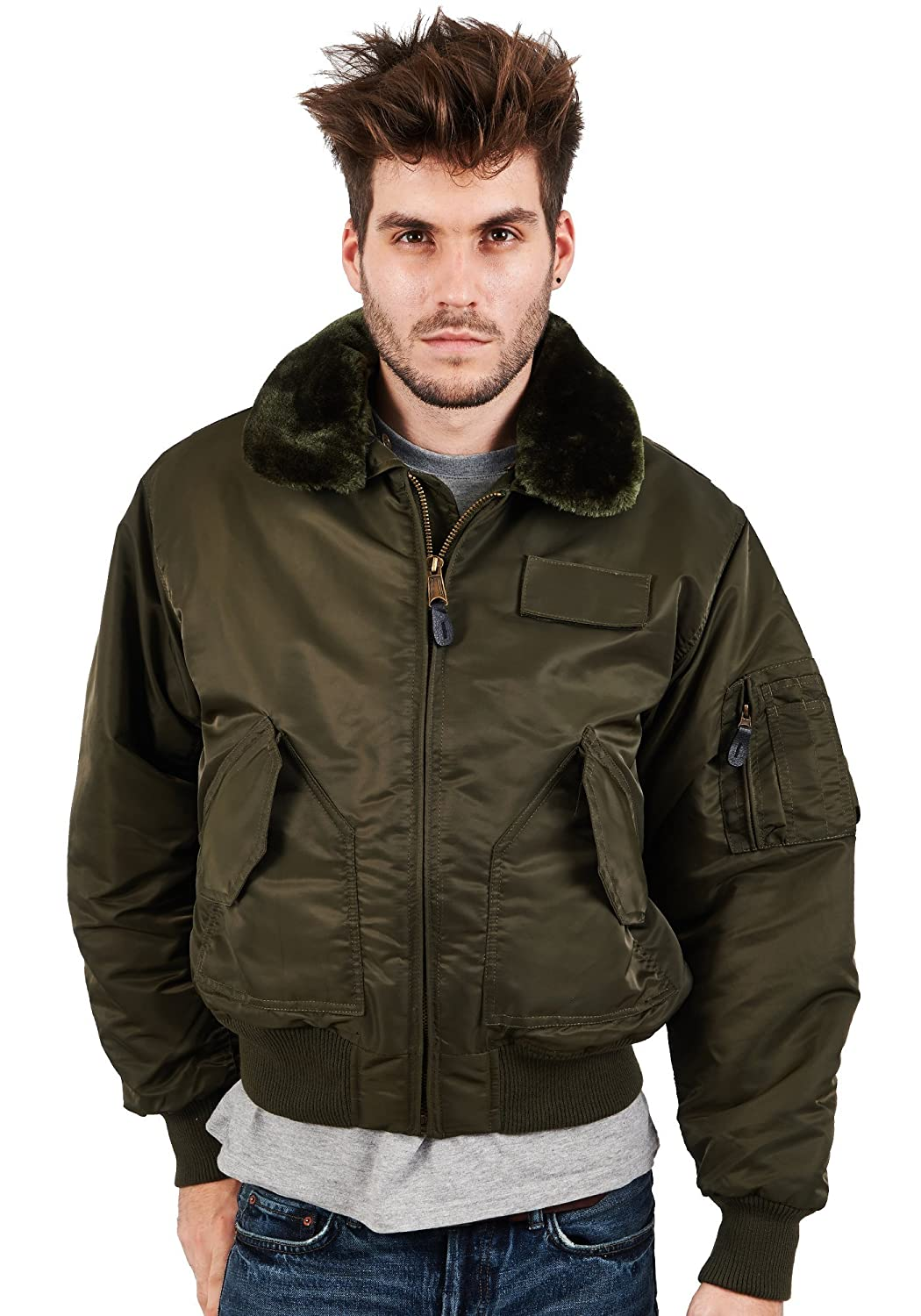 MA2 BOMBER FLIGHT MILITARY COMBAT JACKET: Amazon.co.uk: Clothing