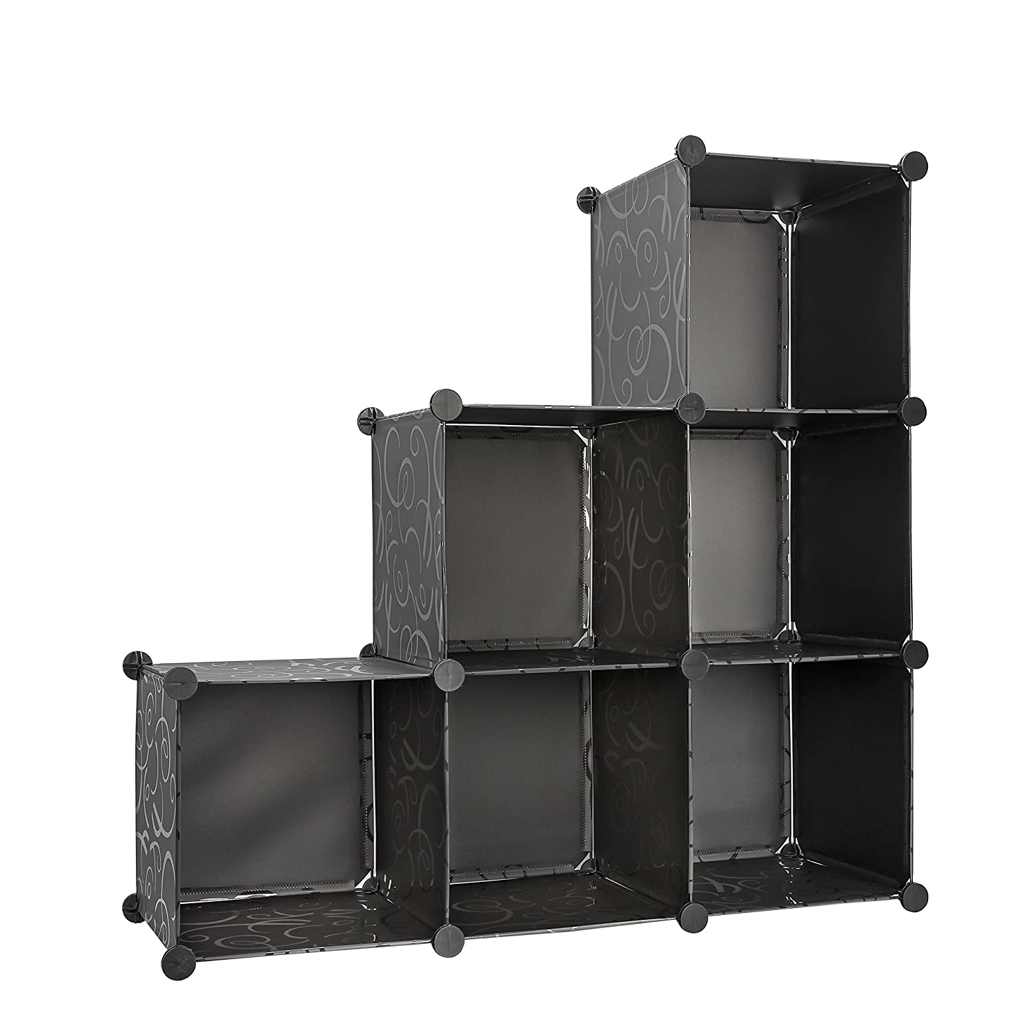 Attractive Storage Cube Organizer Bins with 3 Tiers of Bookcase Modular Cubicals 6 Cubes Make Great Organizer for Closet Books Strong Lightweight LUXENNO 4335516675 Arts /& Crafts while Minimizing Clutter