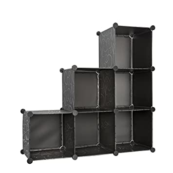 Captivating Storage Cube Organizer Bins With 3 Tiers Of Bookcase Modular Cubicals. 6  Cubes Make Great