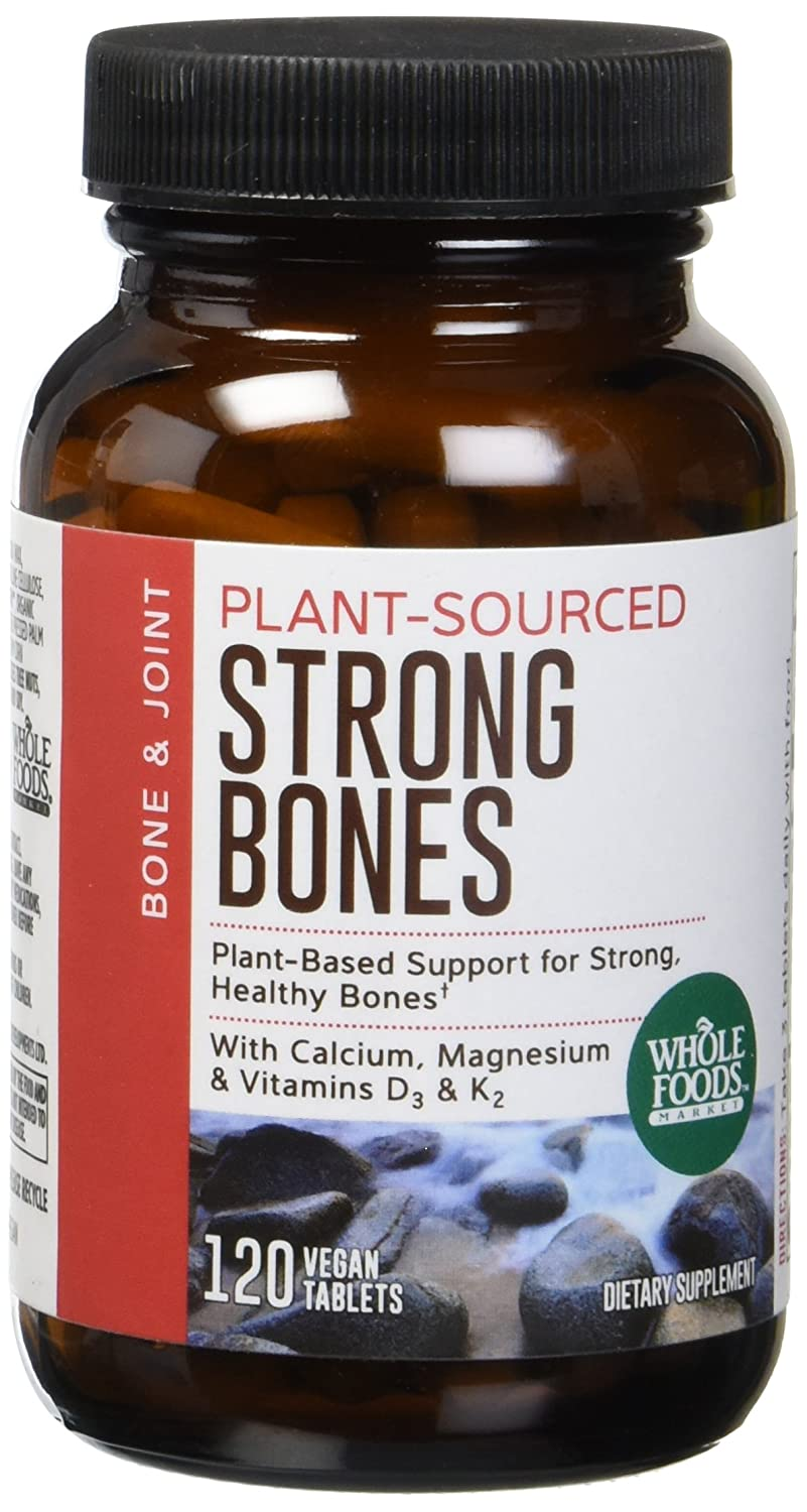 Amazon.com: Whole Foods Market, Strong Bones, 120 ct: Health & Personal Care