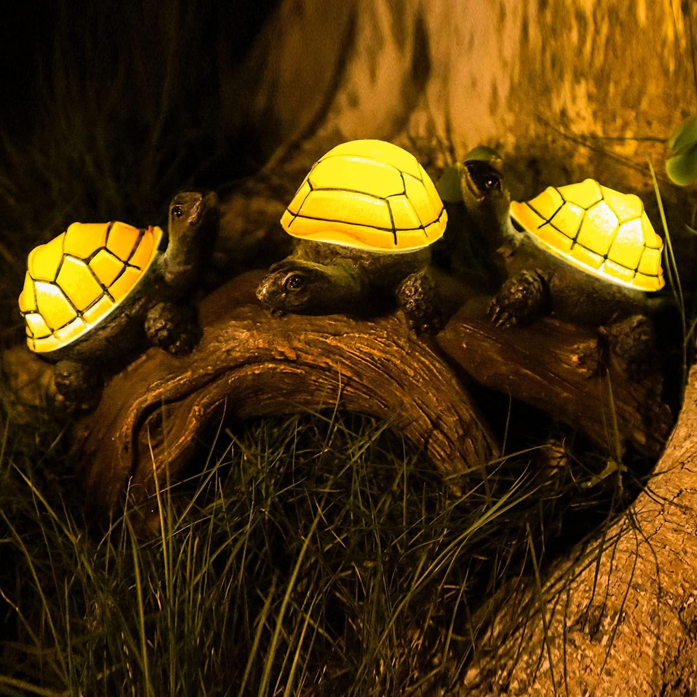 Solar Turtles Outdoor Garden Decorations, 9.6