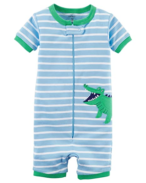 fff398b0f365 Amazon.com  Carter s Baby Boys  1-Piece Snug Fit Cotton Romper ...