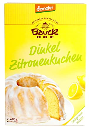 Bauk Demeter Dinkel Zitronenkuchen Laktosefrei 485 G Amazon De