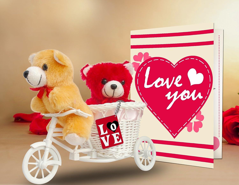 Buy TiedRibbons® Valentine's Day Gift Combo (2 Teddy, Love Tri ...