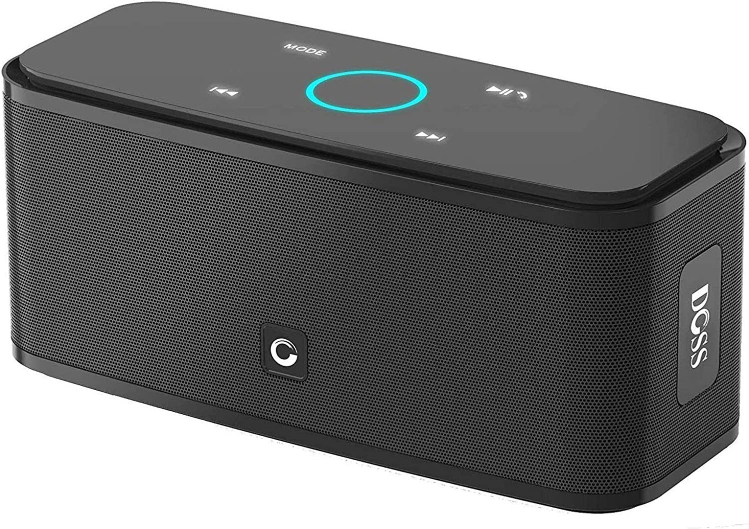 DOSS SoundBox Touch Portable Wireless Bluetooth Speakers with 12W HD Sound and Bass, 20H Playtime, Handsfree, Speakers for Home, Outdoor, Travel-Black: Electronics