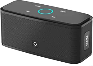 Bluetooth Speakers, DOSS SoundBox Touch Portable Wireless Bluetooth Speakers with 12W HD Sound and Bass, IPX5 Waterproof, 20H Playtime,Touch Control, Handsfree, Speakers for Home,Outdoor,Travel-Black