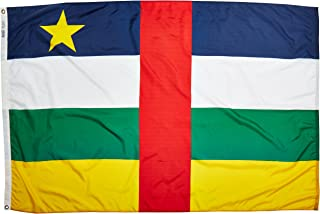 product image for Annin Flagmakers Model 191412 Central Africa Republic Flag Nylon SolarGuard NYL-Glo, 4x6 ft, 100% Made in USA to Official United Nations Design Specifications