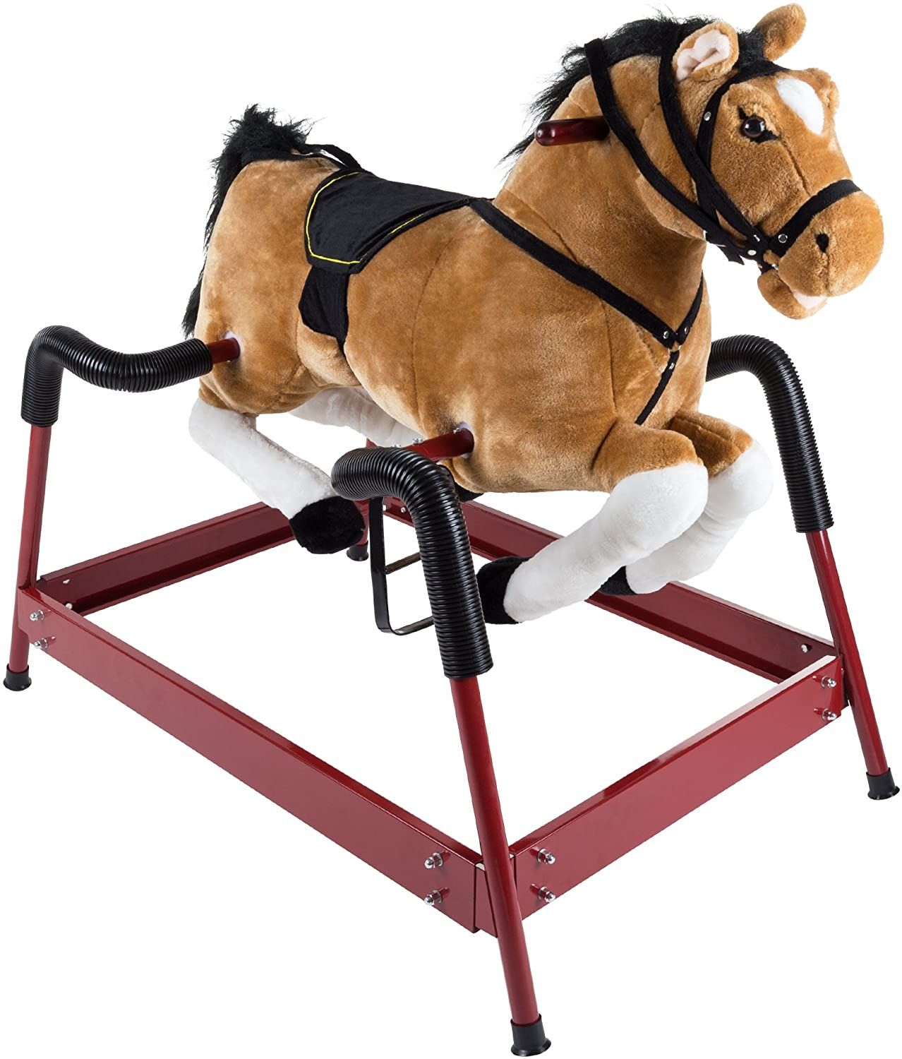 Spring Rocking Ranking TOP14 Horse cheap Plush Ride on Foot Adjustable Toy Stir with