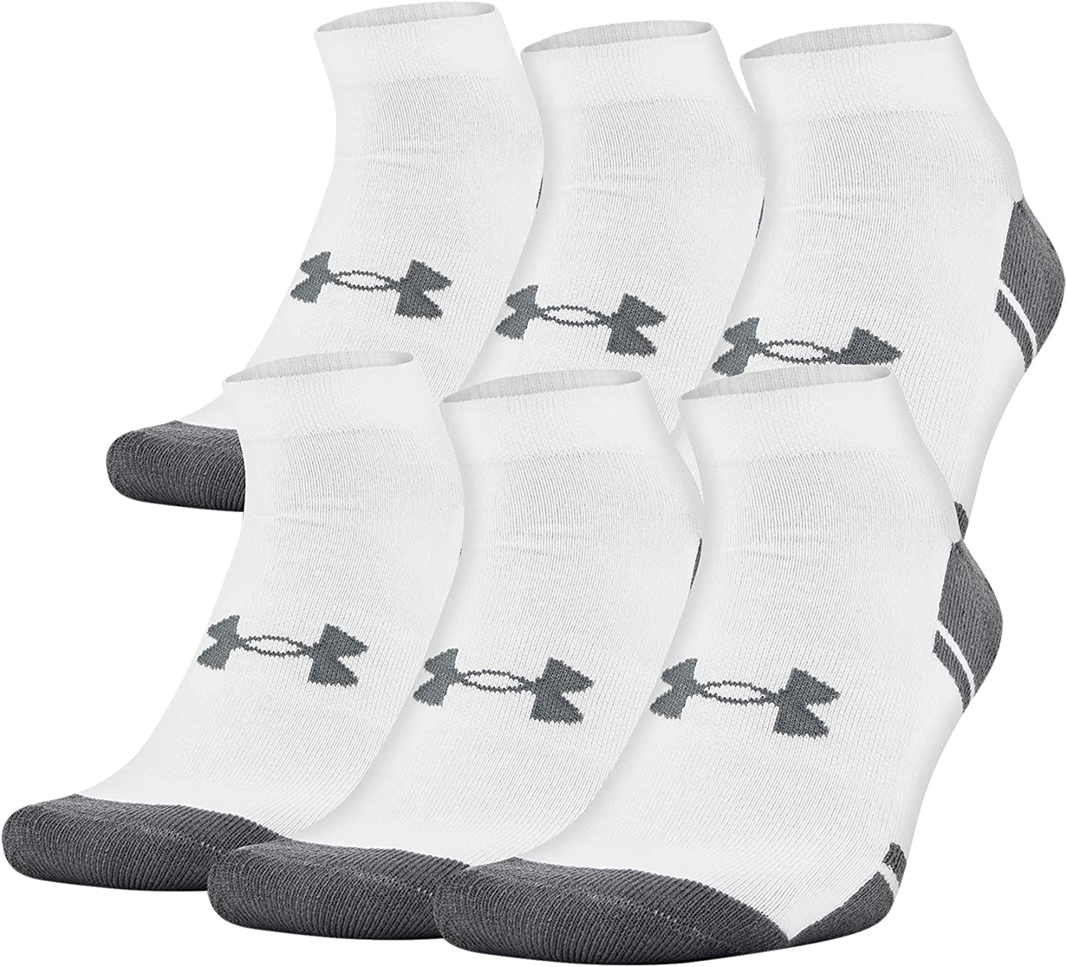 Under Armour Adult Resistor 3.0 Low Cut Socks (6 and 12 Pack)