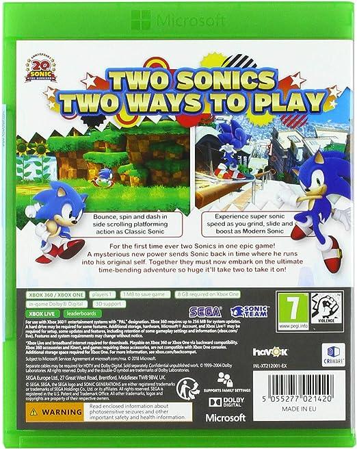 Xbox 360 Sonic Generations - Xbox One Compatible: Amazon.es: Videojuegos