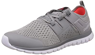 Reebok Men's Sublite Authentic 2.0 Mtm Grey, Flat Grey, Red, White and Black