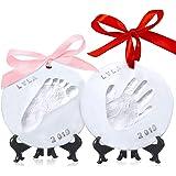 Baby Handprint Footprint Ornament Keepsake Kit - Personalized Baby Prints Ornaments for Newborn - Baby Nursery Memory…