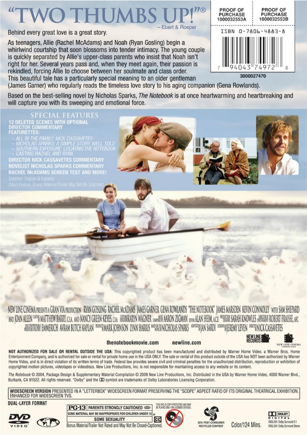 com the notebook james garner gena rowlands com the notebook 2004 james garner gena rowlands rachel mcadams ryan gosling anthony michael q thomas ed grady reneacutee amber