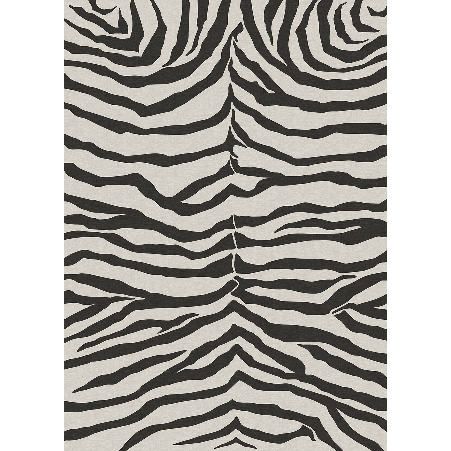 RUGGABLE Washable Stain Resistant Pet Dog Area Rug for Indoor/Outdoor - Zebra Safari Black 5' x 7' Area Rug