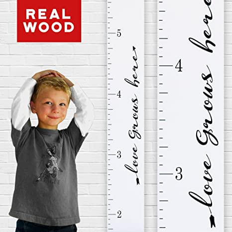 Amazon Growth Chart Art Wooden Height Chart Ruler Kids Wall
