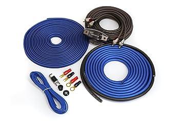 KnuKonceptz Kolossus OFC cables de instalación para amplificador de calibre 8