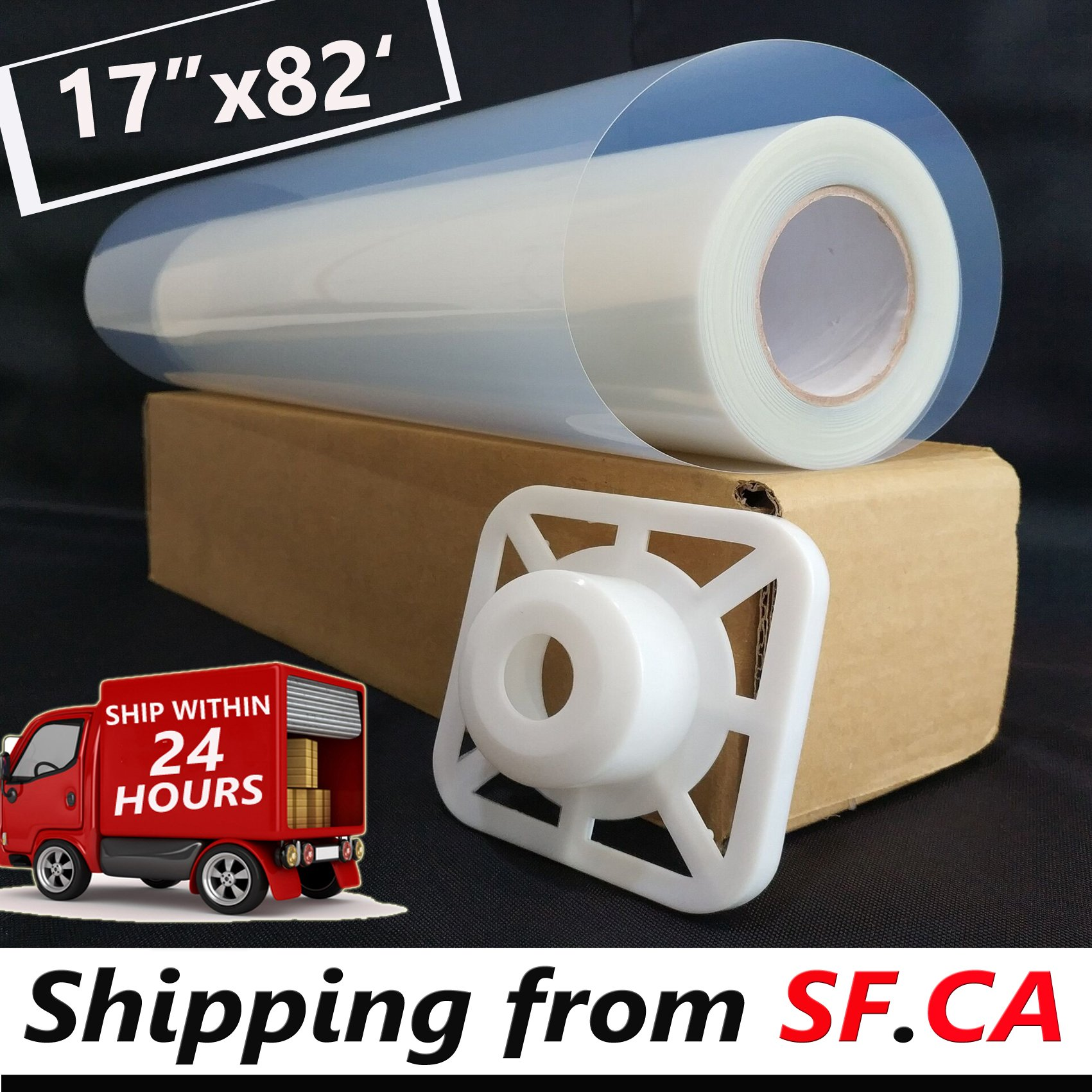 """17""""x82'/roll,3'' core,Premium Waterproof Inkjet Transparency Instant Dry Film Paper for Screen Printing for EPSON T3270/7800 Printer by Tiger-Hoo(Shipping from SF.CA USA)"""