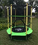 """KLB Sport 55"""" Round Bouncer Trampoline with Enclosure, Age 3+"""