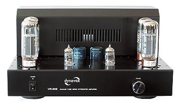 Dynavox VR-80E - Amplificador a válvulas mono, color negro (importado)