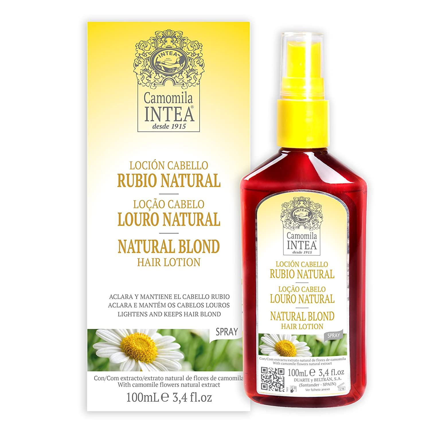 camomila locià n cabello rubio natural 100 ml beauty