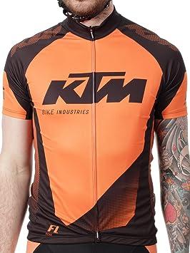 Camisetas Mtb Con Cremallera Ktm Factory Line Negro-Anaranjado (S , Negro): Amazon.es: Deportes y aire libre