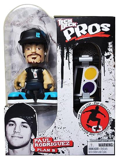 ac35b21bc2828 Amazon.com  Tech Deck Pros Finger Skateboard 3-1 2 Inch Tall Pro Skater  Action Figure Set - PAUL RODRIGUEZ
