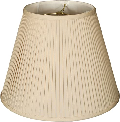 Royal Designs DBS-728-20BG 10 x 20 x 15 Deep Empire Side Pleat Basic Lamp Shade, Beige