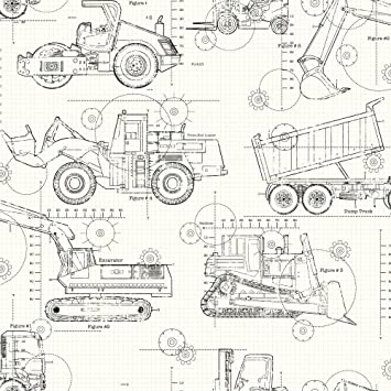 York wallcoverings ks2349 cool kids construction blueprint wallpaper york wallcoverings ks2349 cool kids construction blueprint wallpaper whitetaupegreyblack malvernweather Image collections