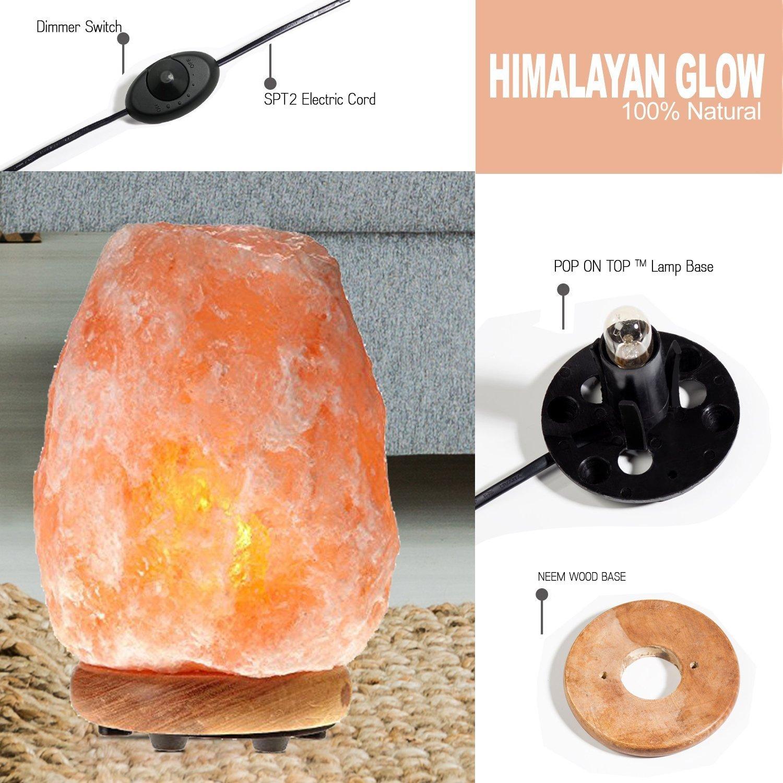 Himalayan Glow 1001 Salt Lamp, ETL Certified himalayan pink salt lamp, Home Décor Table lamps | 5-8 lbs by WBM by Himalayan Glow (Image #7)