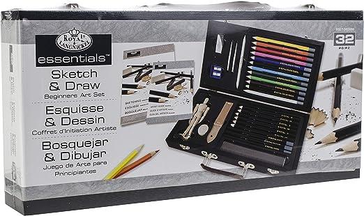 Beginners Artist Box Set Sketching Pad /& Drawing Pencils Manikin /& Guide DS3000