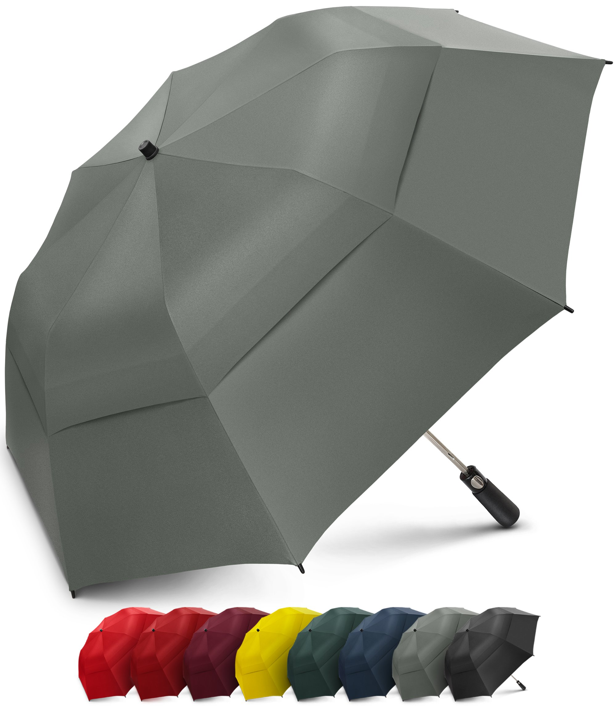 EEZ-Y 58 Inch Portable Golf Umbrella Large Windproof Double Canopy - Automatic Open Strong Oversized Rain Umbrellas by EEZ-Y