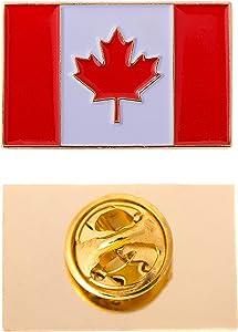 Canada Canadian Country Flag Lapel Enamel Made of Metal Souvenir Hat Men Women Patriotic (Rectangle Pin)