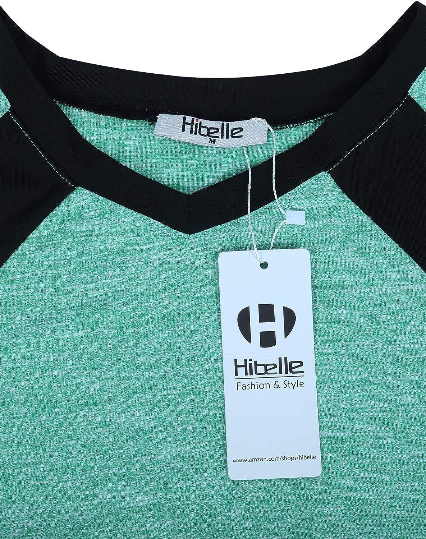 Hibelle Womens Long Sleeve Activewear Yoga Running Workout T-Shirt Tops