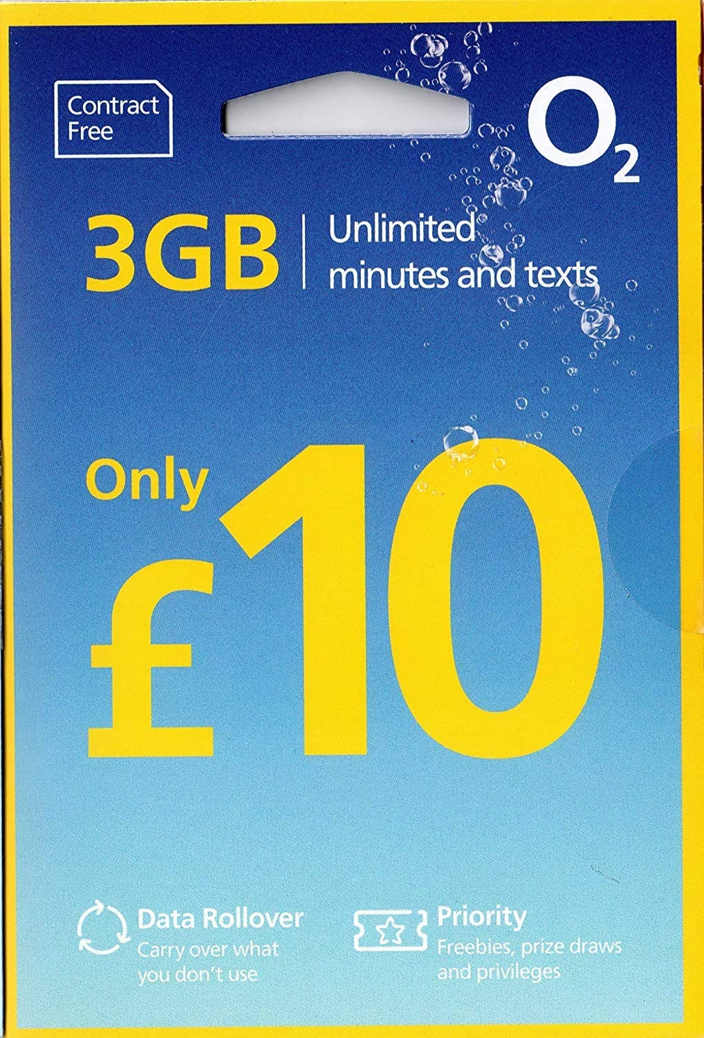 free pay as you go sim o2