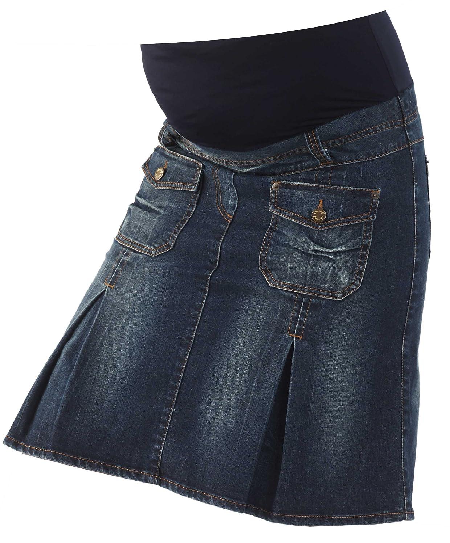 Christoff Umstandsrock Jeans-Rock - Hoher Bund - A-Form - 413/88/8
