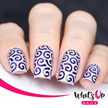 Amazon Whats Up Nails Swirls Pattern Vinyl Stencils For Nail
