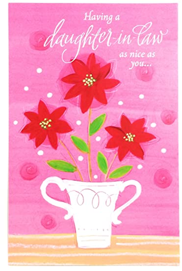 Amazon christmas card for daughter in law having a daughter in christmas card for daughter in law having a daughter in law as nice as you m4hsunfo