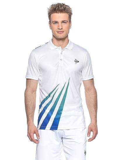 DUNLOP Vestir Men-Polo, Hombre, Bianco/Verde/BLU, Large: Amazon.es ...