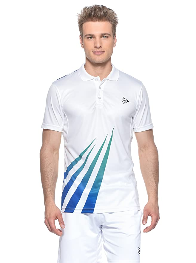 DUNLOP Vestir Men-Polo, Hombre, Bianco/Verde/BLU, Large: Amazon.es ...