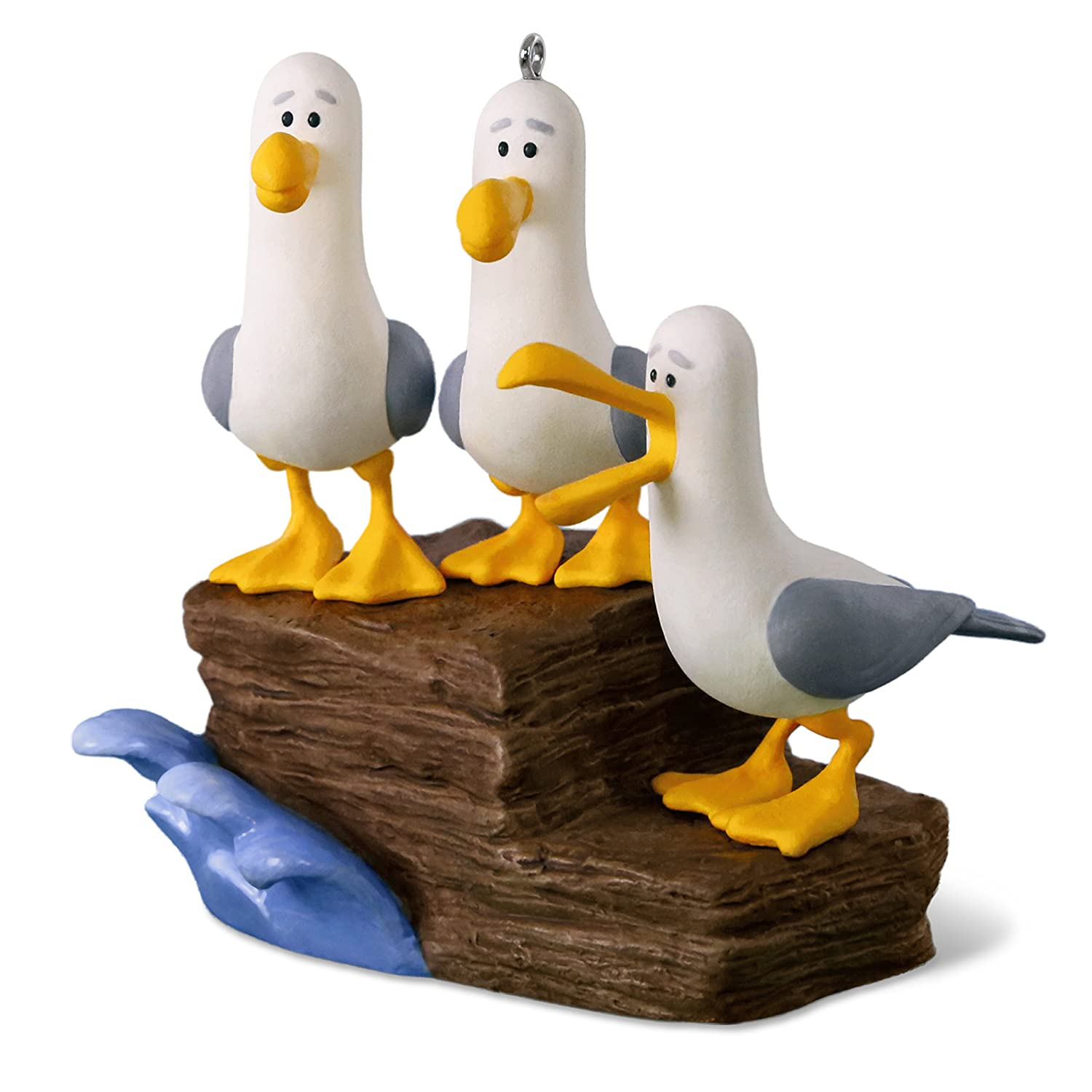 Hallmark Keepsake Christmas Ornament 2018 Year Dated, Disney/Pixar Finding Nemo Mine! Mine! Mine! Seagulls with Sound Hallmark Cards