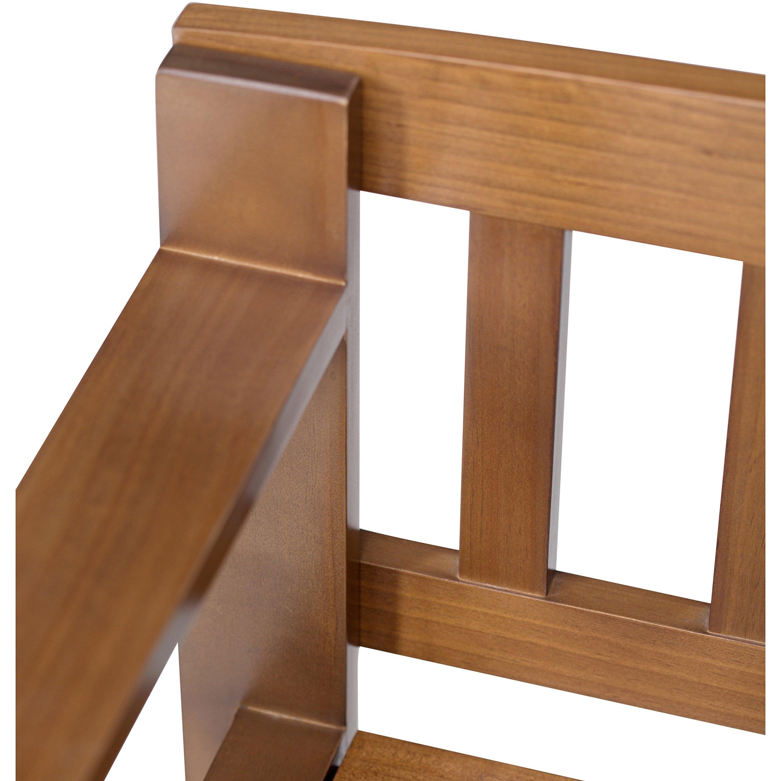 Simpli Home Brooklyn Solid Wood Entryway Storage Bench, Medium Saddle Brown by Simpli Home (Image #6)