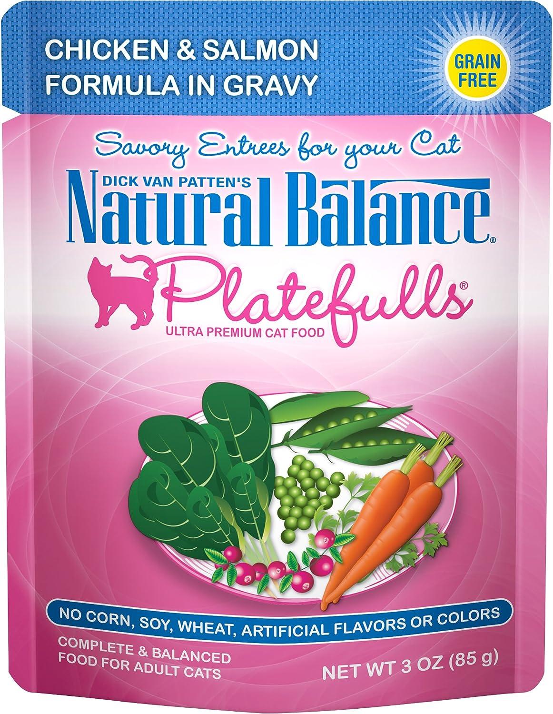 Natural Balance Platefulls Wet Cat Food in Gravy, 3 Ounce (Pack of 24), Grain Free