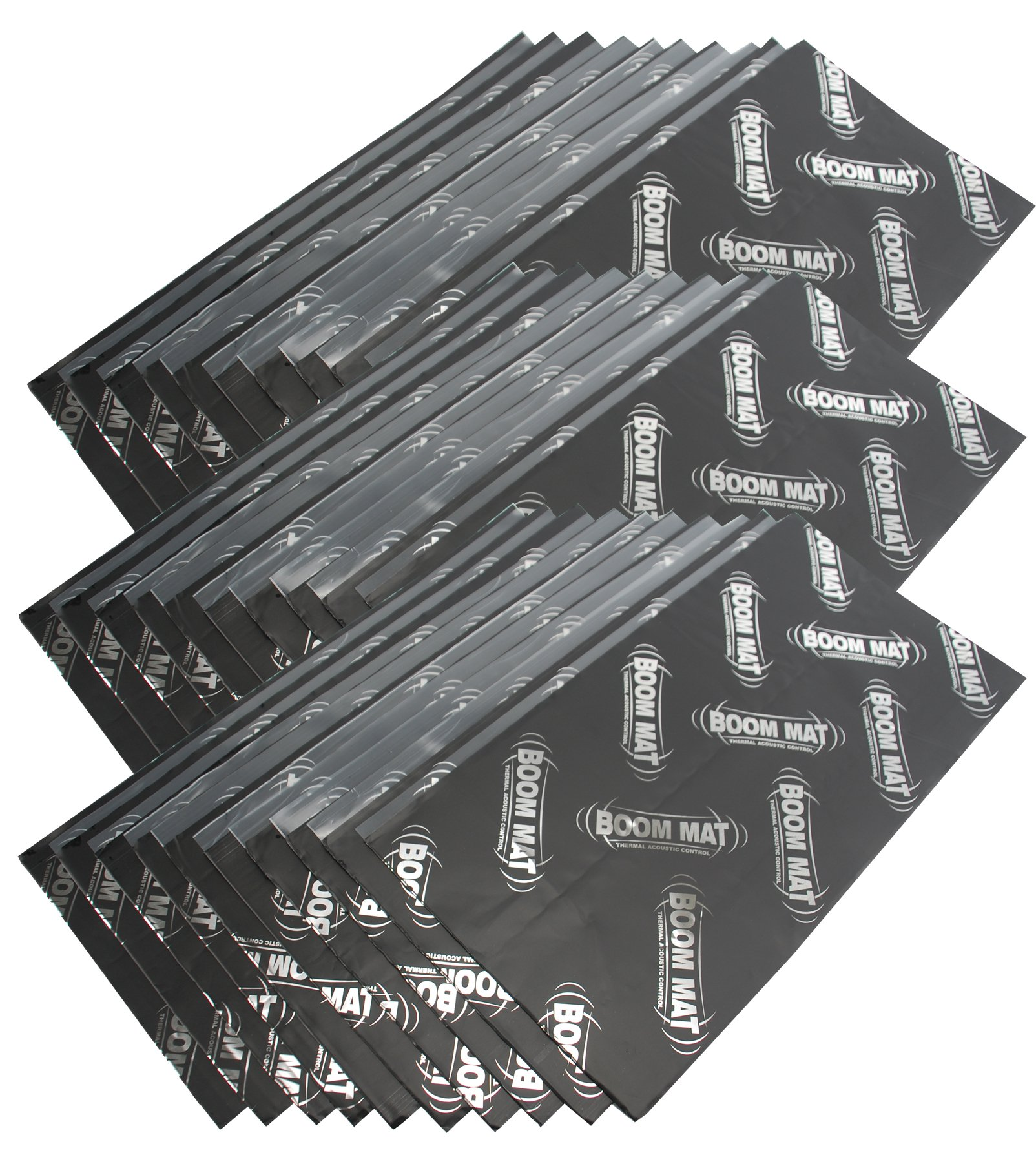 DEI 050214 Boom Mat Sound Damping Material with Adhesive Backing, 12.5'' x 24'' x 2mm (Pack of 30)