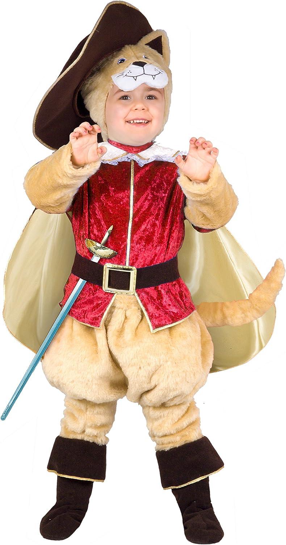 Ciao 14792 – Disfraz de Gato con botas 2-3 anni Beige/Rosso ...