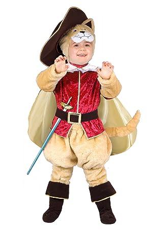 Ciao 14792 – Disfraz de Gato con botas 2-3 anni Beige/Rosso/