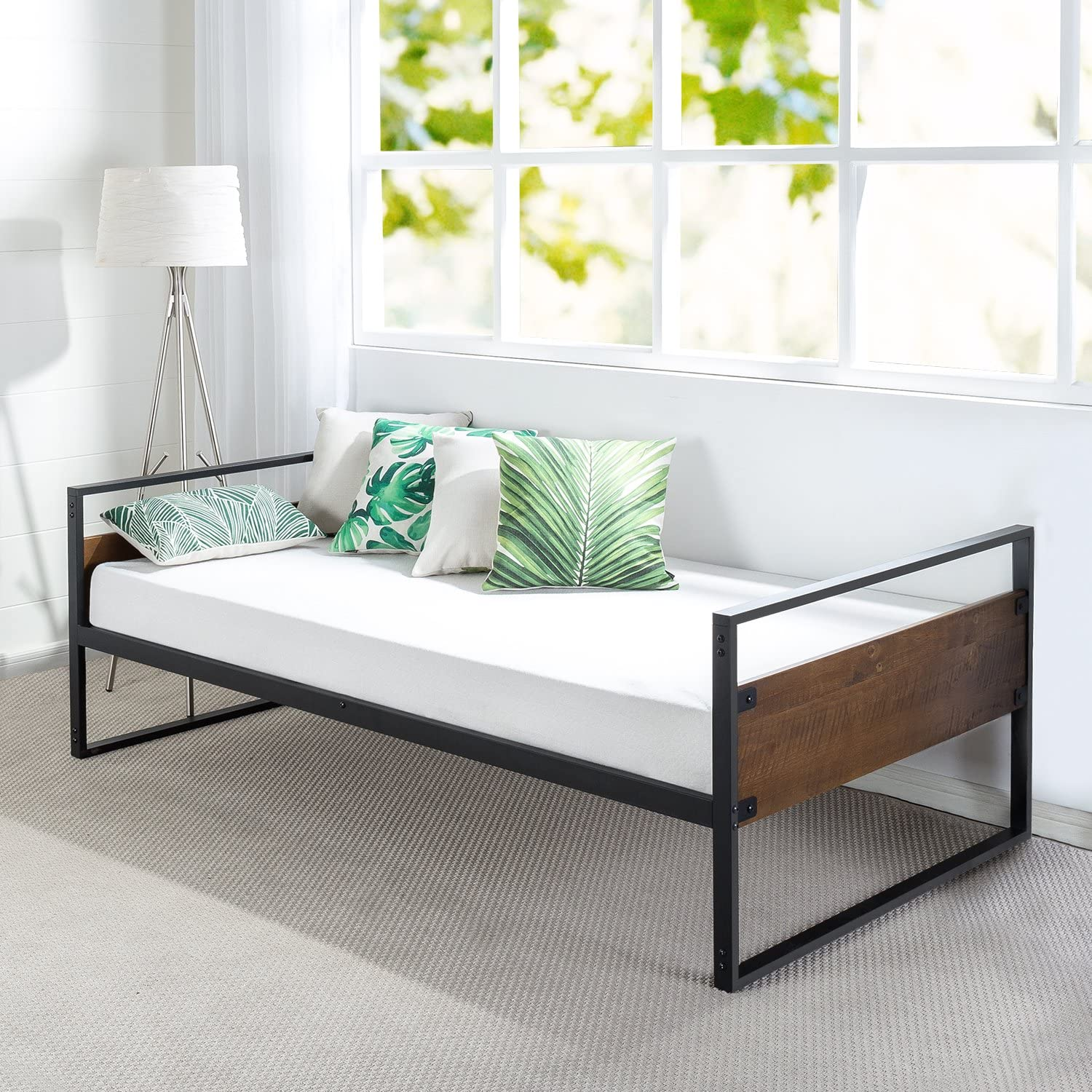 Zinus Suzanne Twin Daybed Frame Premium Steel Slat Support