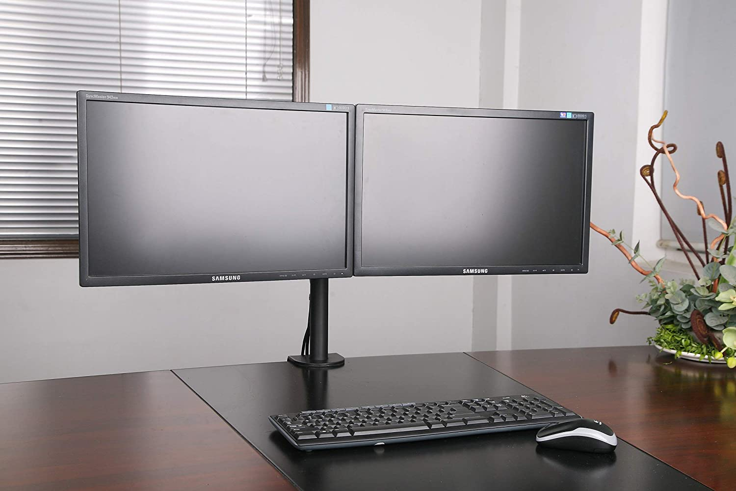 Adjustable Computer Monitor Desk Mount Stand for Dual LCD Flat Screen Monitor