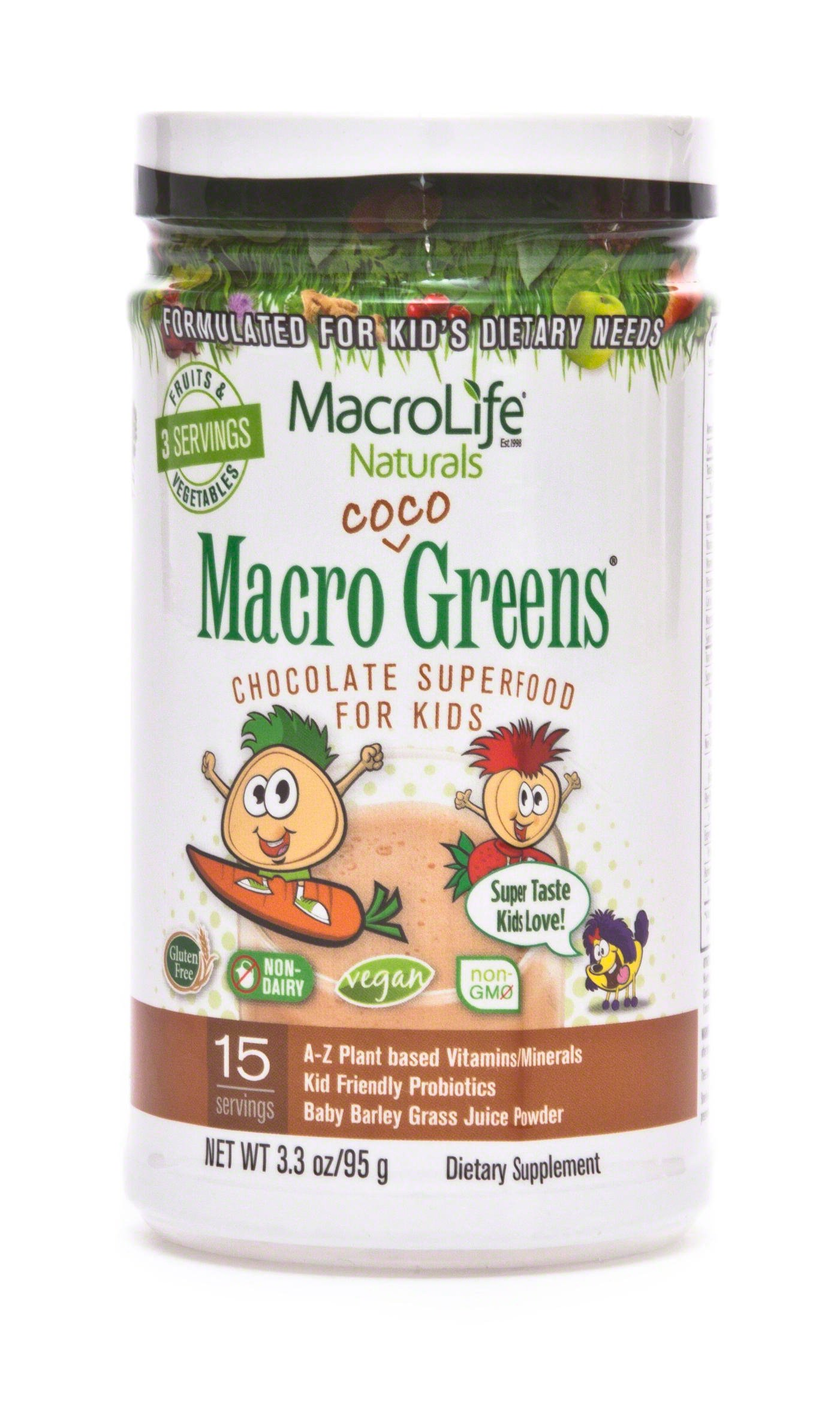 MacroLife Naturals Jr. Coco Greens, 15 Day Supply 3.3 oz