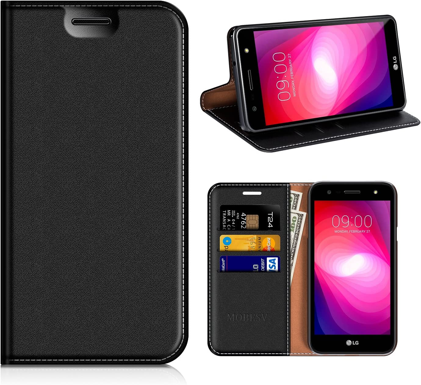 MOBESV Funda Cartera LG X Power 2, Funda Cuero Movil LG X Power 2 ...